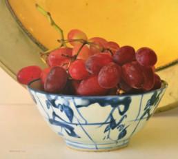 Schale mit Weintrauben, 2014, OOC, 85 x 95 cm