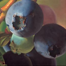 Heidelbeeren II, 2001, OOC, 40 x 40 cm