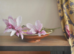 Bowl with Magnolia, 2013, OOC, 33 x 45 in