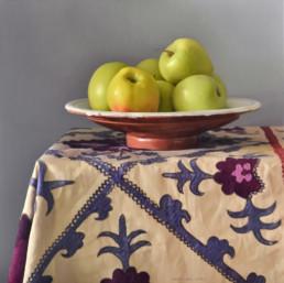Stillleben mit Äpfeln, 2013, OOC, 80 x 80 cm