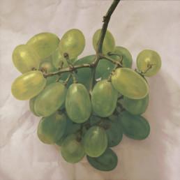 Trauben III, 2001, OOC, 70 x 70 cm