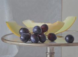 Trauben und Melonen, 2012, OOC, 90 x 130 cm