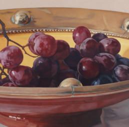 Trauben VII, 2003, OOC, 100 x 100 cm